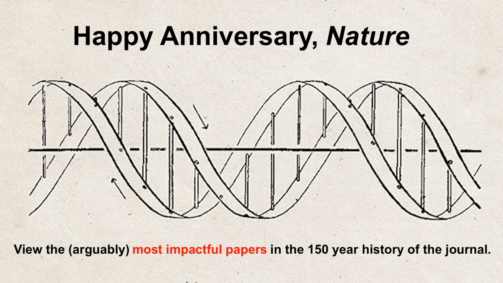 Nature Journal Anniversary