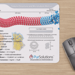 Tubulin Infographic Mousepad and mouse