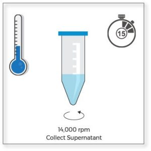 clarify of protein aggregates by centrifugation